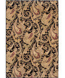 RugStudio presents Orian American Heirloom Kashmir 1227 Black Machine Woven, Better Quality Area Rug