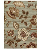 RugStudio presents Orian Anthology Cimarron blue green Machine Woven, Good Quality Area Rug
