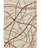 RugStudio presents Orian Anthology Scrabble Beige White Machine Woven, Good Quality Area Rug