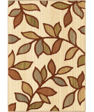 RugStudio presents Orian Anthology Grove Leaves 1418 Gold / Cream / Beige Machine Woven, Good Quality Area Rug