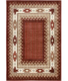 RugStudio presents Orian Anthology Durango 1426 Brown Red Machine Woven, Good Quality Area Rug