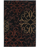 RugStudio presents Orian Four Seasons Sonoma Outdoor Josselin 1819 Black Machine Woven, Good Quality Area Rug