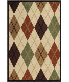 RugStudio presents Orian Four Seasons Arbor Argyle bisque Machine Woven, Good Quality Area Rug