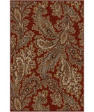 RugStudio presents Orian Harmony Corina Paisley cinnabar Machine Woven, Better Quality Area Rug