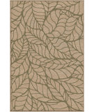 RugStudio presents Orian Harmony Palm Overlay khaki Machine Woven, Better Quality Area Rug