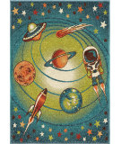 RugStudio presents Orian Kids Court 3100 Blue Machine Woven, Good Quality Area Rug