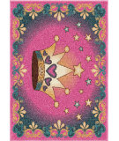 RugStudio presents Orian Kids Court 3102 Pink Machine Woven, Good Quality Area Rug