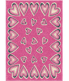 RugStudio presents Orian Kids Court 3108 Pink Machine Woven, Good Quality Area Rug
