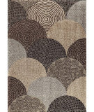 RugStudio presents Orian Metropolitan Oystershell 1650 Black / Gray Machine Woven, Good Quality Area Rug