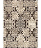 RugStudio presents Orian Metropolitan Modern Tile 1654 Gold / Cream / Beige Machine Woven, Good Quality Area Rug