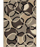 RugStudio presents Orian Nuance Halo 2001 Black / Gray Machine Woven, Good Quality Area Rug