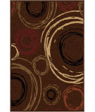 RugStudio presents Orian Nuance Centric BROWN Machine Woven, Good Quality Area Rug