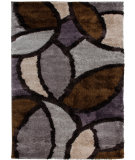 RugStudio presents Orian Shine On Bloom Petal dark seal Machine Woven, Good Quality Area Rug