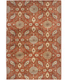 RugStudio presents Orian Stria Modern Ming 1510 Cinnabar Machine Woven, Better Quality Area Rug