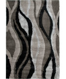 RugStudio presents Orian Uptown Dewdrop 1307 Black Machine Woven, Better Quality Area Rug