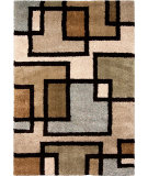 RugStudio presents Orian Wild Weave Huffing 1601 Gold / Cream / Beige Machine Woven, Good Quality Area Rug