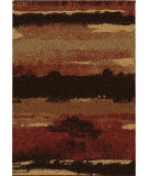 RugStudio presents Orian Wild Weave Canyon 1667 Red / Burgundy Machine Woven, Good Quality Area Rug