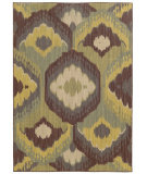 RugStudio presents Tommy Bahama Cabana 929n2 Gold/Teal Machine Woven, Good Quality Area Rug