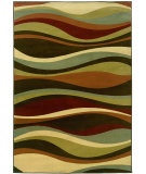 RugStudio presents Sphinx By Oriental Weavers Darcy 4442n Brown/Green Machine Woven, Good Quality Area Rug