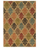 RugStudio presents Sphinx By Oriental Weavers Emerson 4883b Tan/Multi Machine Woven, Good Quality Area Rug