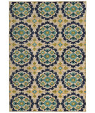 RugStudio presents Sphinx By Oriental Weavers Harper 70373 Beige / Blue Machine Woven, Good Quality Area Rug