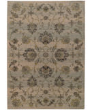 RugStudio presents Sphinx By Oriental Weavers Heritage 5996h Ivory / Blue Machine Woven, Good Quality Area Rug