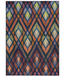 RugStudio presents PANTONE UNIVERSE Prismatic 51557 Orange/ Blue Machine Woven, Good Quality Area Rug
