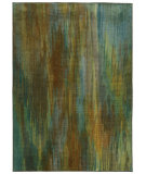 RugStudio presents PANTONE UNIVERSE Prismatic 73158 Green/ Blue Machine Woven, Good Quality Area Rug