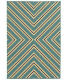 RugStudio presents Sphinx By Oriental Weavers Riviera 4589j Teal Blue Machine Woven, Good Quality Area Rug