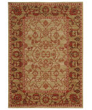 RugStudio presents Tommy Bahama Vintage 4928j Tan/Red Machine Woven, Good Quality Area Rug