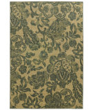 RugStudio presents Tommy Bahama Voyage 8120g Dark Green/Tan Machine Woven, Good Quality Area Rug