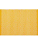 RugStudio presents Pine Cone Hill Placemat Diamond Canary/White
