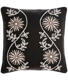 RugStudio presents Pine Cone Hill Pillow Edelweiss Crewel Black