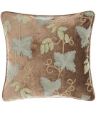 RugStudio presents Pine Cone Hill Pillow Grapevine Crewel