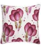 RugStudio presents Pine Cone Hill Pillow Happy Poppies Pink