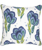 RugStudio presents Pine Cone Hill Pillow Happy Poppies Blues