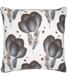 RugStudio presents Pine Cone Hill Pillow Happy Poppies Slate