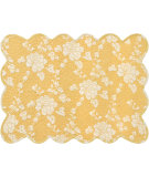 RugStudio presents Pine Cone Hill Placemat Madeline Gold