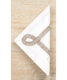 RugStudio presents Pine Cone Hill Napkins Ruched White/Platinum