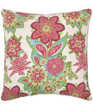RugStudio presents Pine Cone Hill Pillow Shalini Ivory/Raspberry