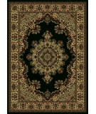 RugStudio presents Radici Usa Castello Series 1191 Black Machine Woven, Good Quality Area Rug