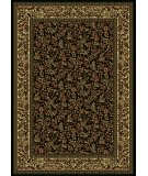 RugStudio presents Radici Usa Castello Series 1219 Black Machine Woven, Good Quality Area Rug