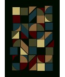 RugStudio presents Radici Usa Castello Series 1392 Black Machine Woven, Good Quality Area Rug