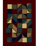 RugStudio presents Radici Usa Castello Series 1392 Burgundy Machine Woven, Good Quality Area Rug