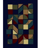 RugStudio presents Radici Usa Castello Series 1392 Navy Machine Woven, Good Quality Area Rug