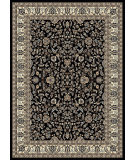 RugStudio presents Radici Usa Alba 1767 Black Machine Woven, Good Quality Area Rug