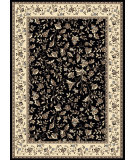 RugStudio presents Radici Usa Alba 1876 Black Machine Woven, Good Quality Area Rug