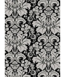 RugStudio presents Radici Usa Bella 1809 Black Machine Woven, Good Quality Area Rug