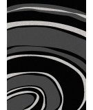RugStudio presents Radici Usa Bella 1827 Black Machine Woven, Good Quality Area Rug