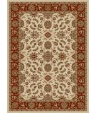 RugStudio presents Radici Usa Como 1592 Ivory-Brick Machine Woven, Good Quality Area Rug